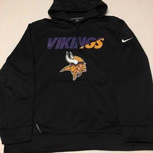 Nike Minnesota vikings therma fit logo sweatshirt